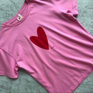 Fiorucci T-Art Pink Heart Logo Graphic T-Shirt XS